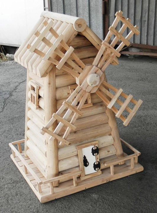 мельница из бревна фото проекты лазерных