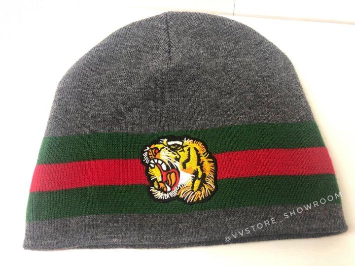 ✓️Зимняя шапка Gucci тигр – купить в Москве, цена 1 990 руб., дата ... bf9b7606403
