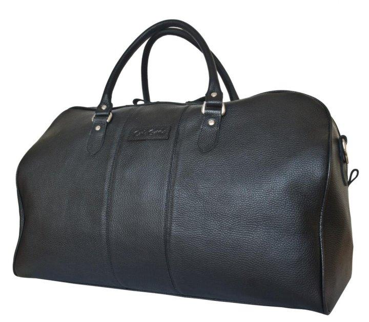 42e76523af17 Кожаная дорожная сумка Campelli black – купить в Москве, цена 9 950 ...