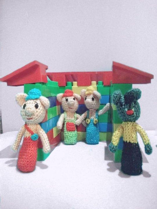 вязаные пальчиковые игрушки купить в москве цена 100 руб дата