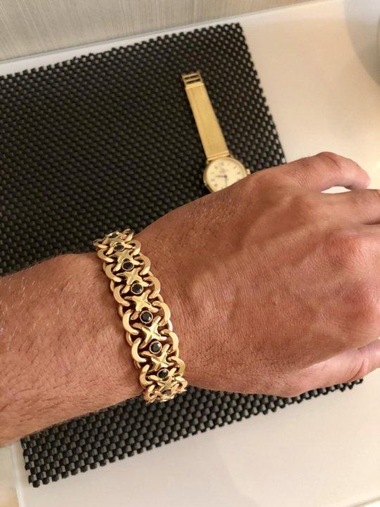 мужской золотой браслет на руку тирпиц фото удобства клиентов