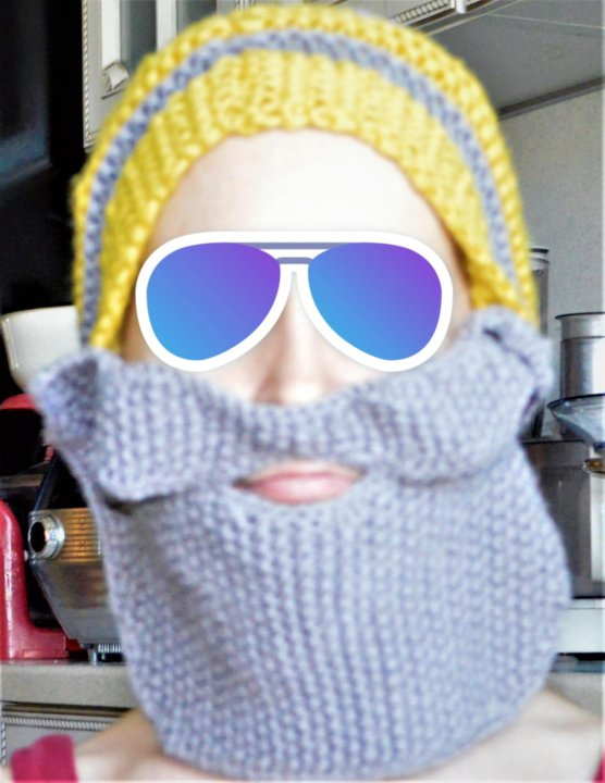 шапка вязаная с бородой и усами купить в новосибирске цена 1 000