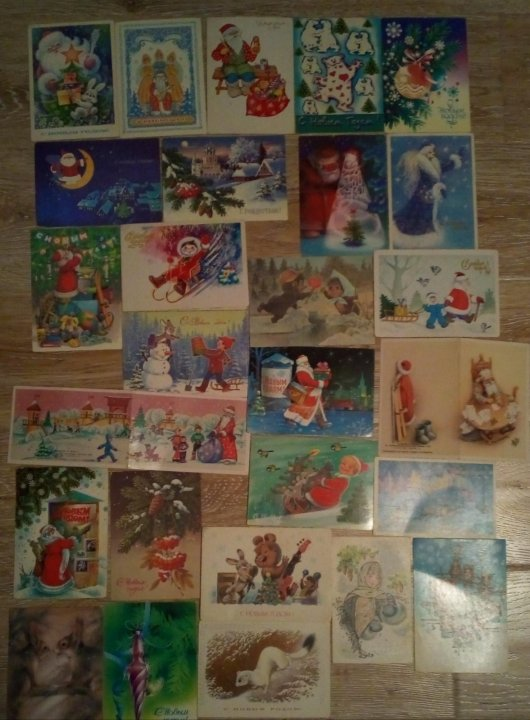 Набор открыток советских времен