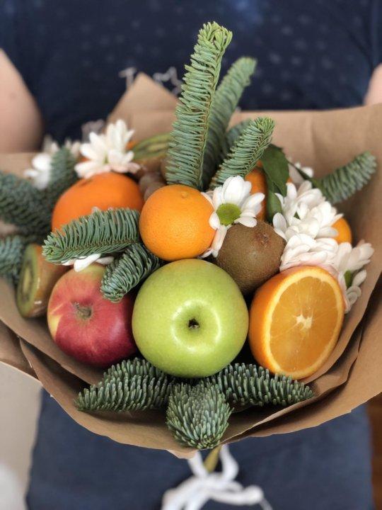 Букеты из фруктов и конфет иркутск, цветов