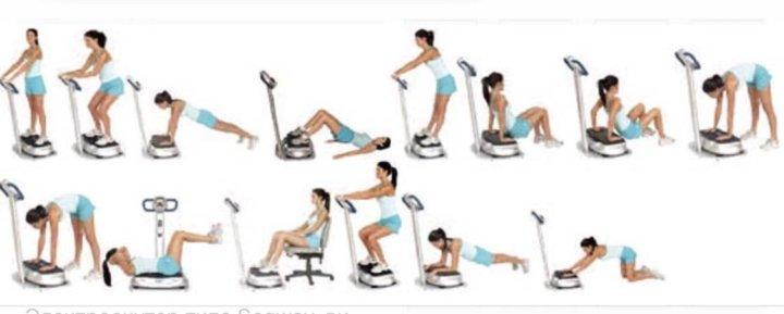 Виброплатформа для похудения упражнения