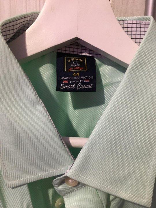 cf31870e23b Владивосток. Новая мужская рубашка мятного цвета со скидкой!. Фото 3.