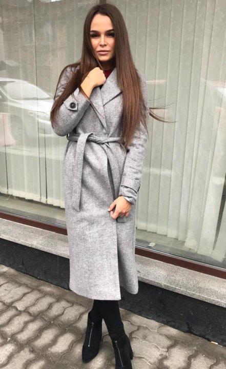 28f3c79a293 Новое серое пальто халат ниже колен 19цветов. Фото 1. Санкт-Петербург. ...