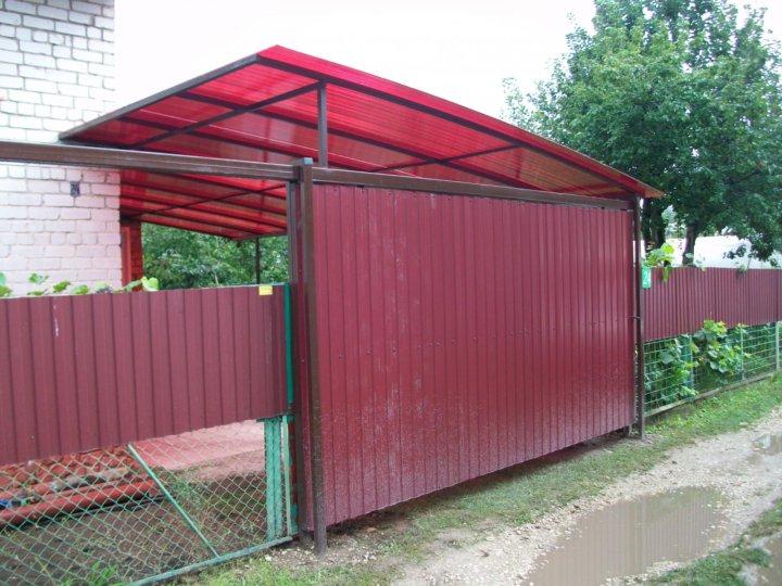 автобус туристов, ворота с крышей из профнастила фото тебе здоровья