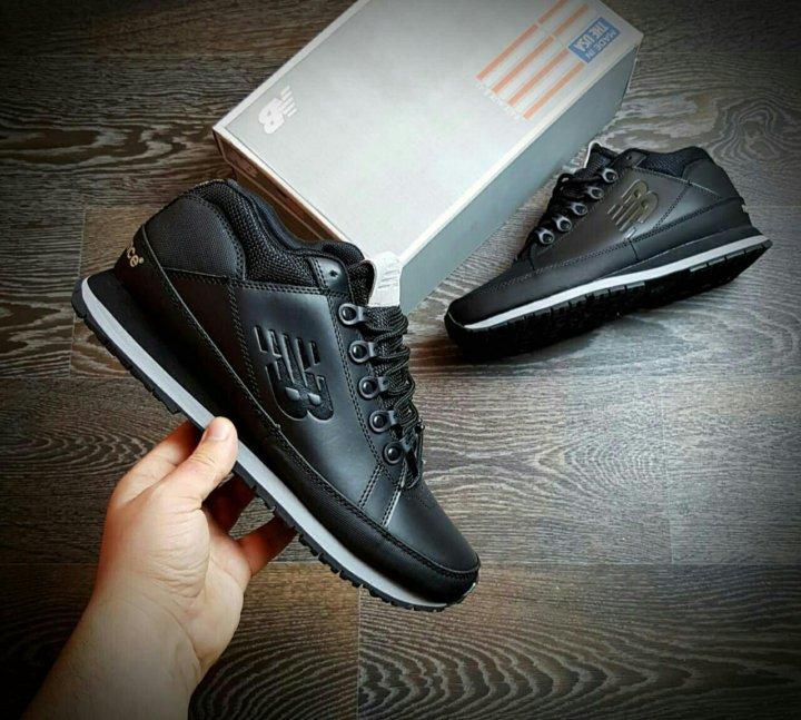 Новые New Balance ML 754 Black кожаные