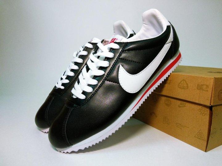 c4b01d5e Кроссовки мужские Nike Cortez кожаные черные белые – купить в Москве ...
