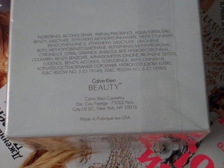 Calvin Klein Beauty оригинал 100ml купить в владикавказе цена 3