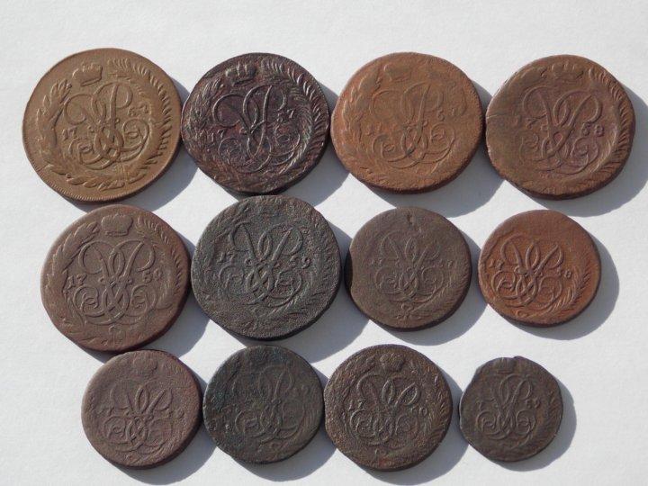 Медные монеты царской россии каталог фото