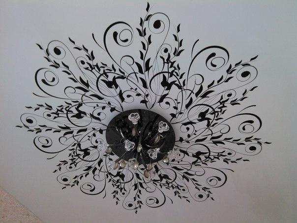 черно белая картинка на потолок министр
