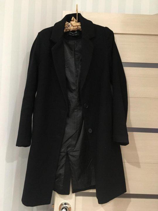 8df79280547 Чёрное пальто Stradivarius – купить в Перми