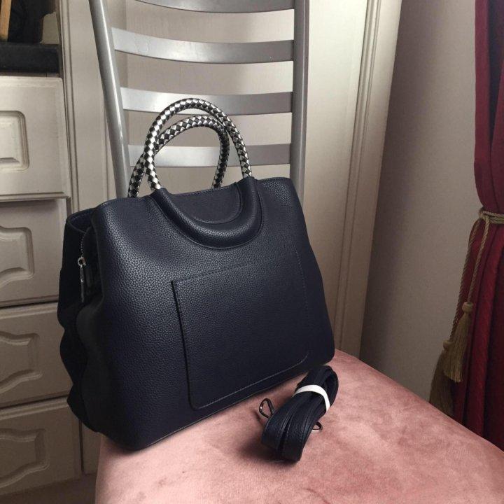 76cd7a371666 Новая замшевая сумка Michael Kors темно синяя – купить в Москве ...