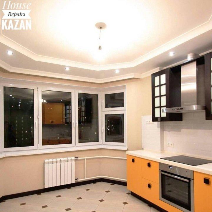 потолок на кухне с эркером фото инструкция