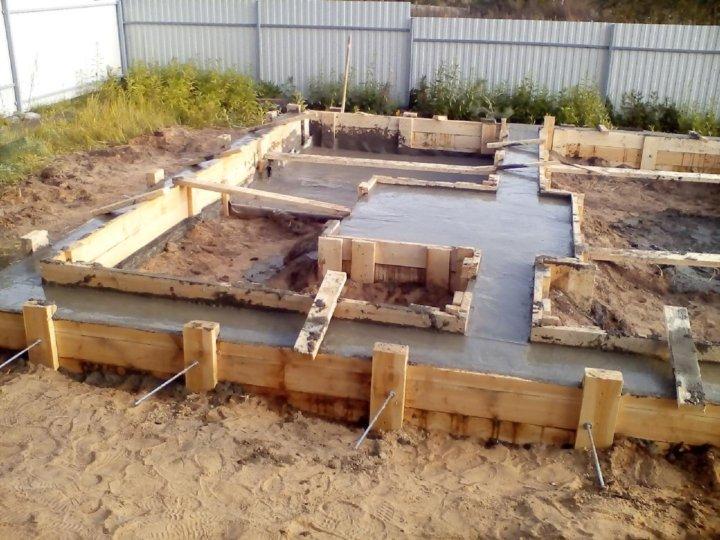 строительство фундамента для бани своими руками видео