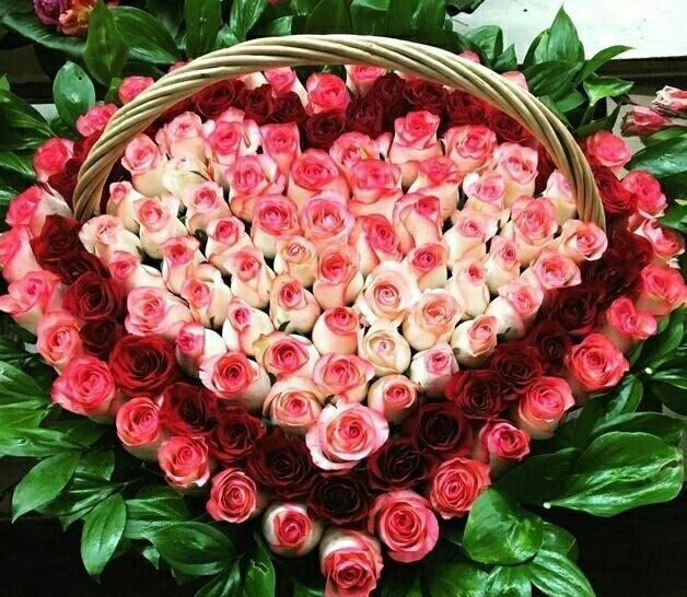корзина сердце из роз фото целью привлечения общественного