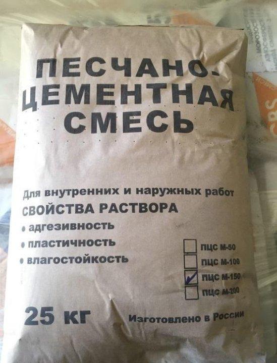 смесь цементно песчаная для приготовления строительных растворов