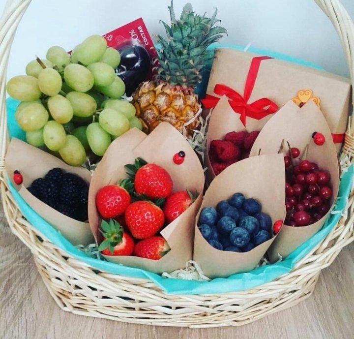 Поздравление когда дарим фрукты