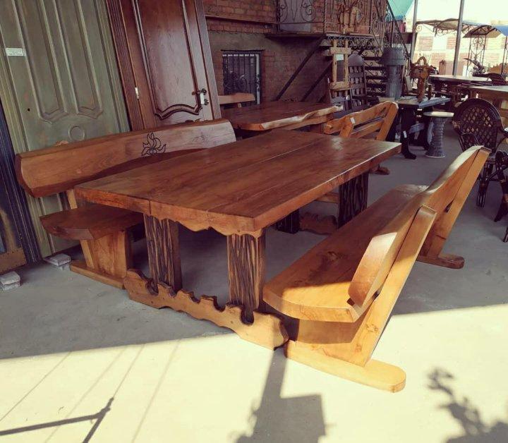 Стол, скамейка, лавочка из дерева купить в Республике Чечня ... | 628x720
