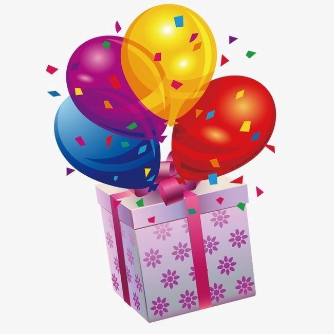 Лет, шарики и открытки и подарки