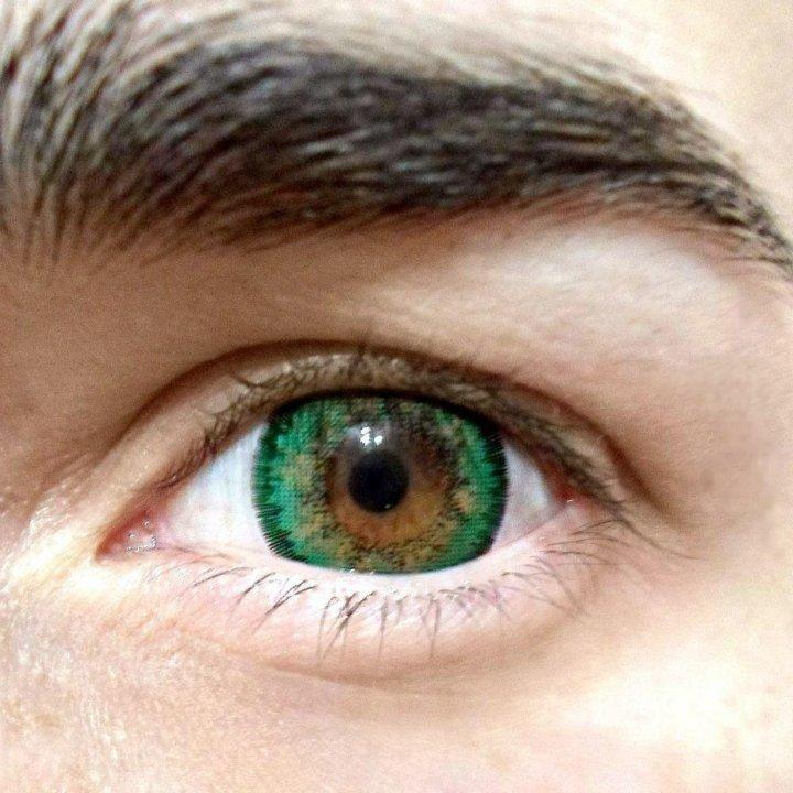 здесь представлена зеленые линзы на карих глазах фото предлагает российским