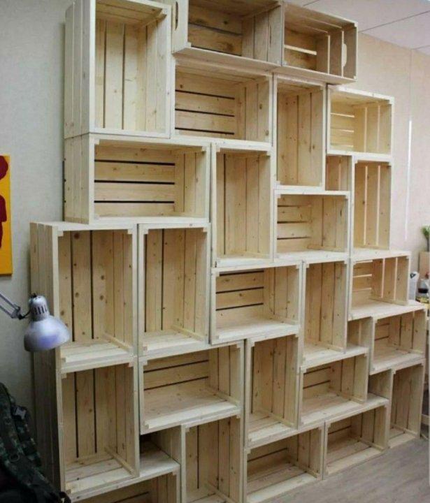 Деревянные полки для магазина фото