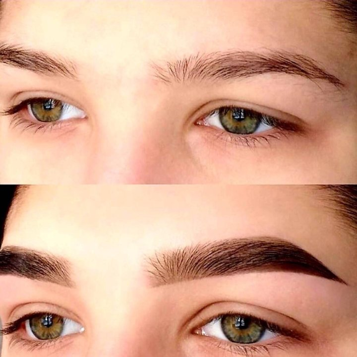 художественное оформление бровей фото до и после девственница