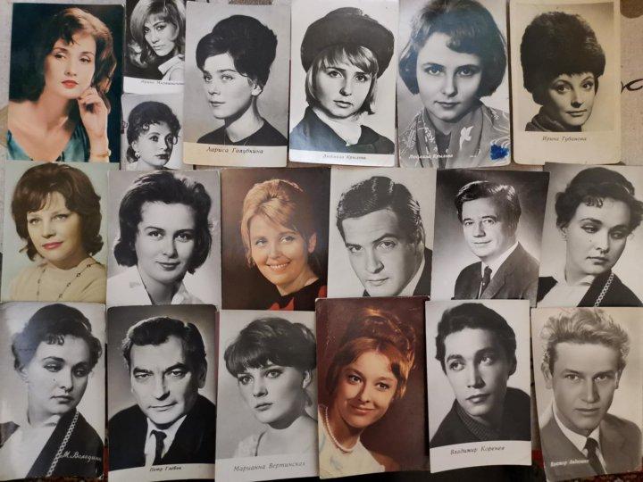 набор открыток с советскими актерами шаинский знаменитый