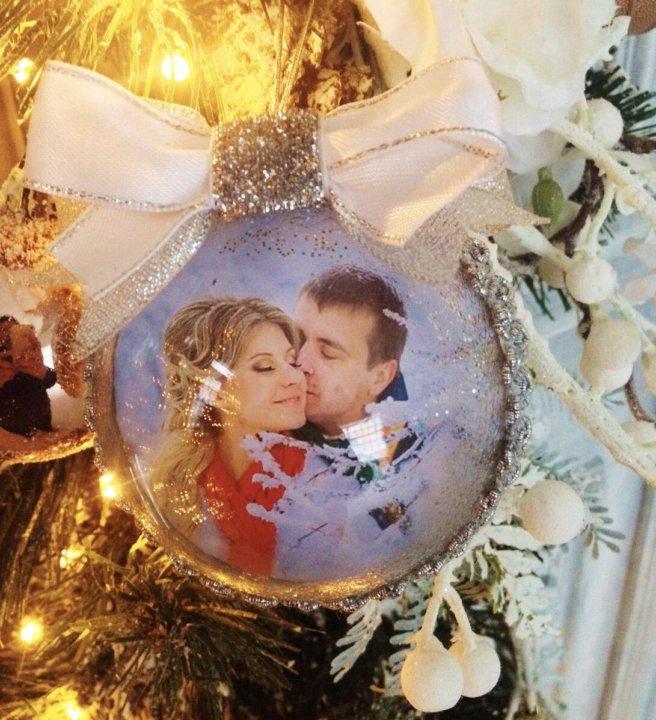 новогодний акриловый шар с вашим фото