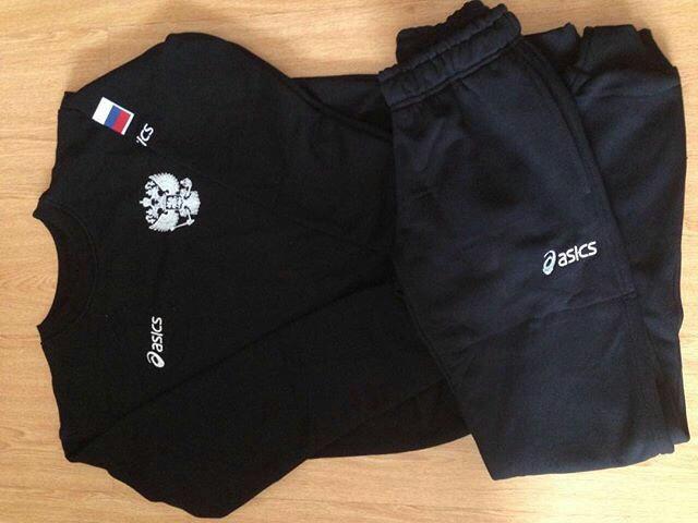 Спортивный костюм asics - Russia wrestling team – купить в ... 234f0a4c6f7