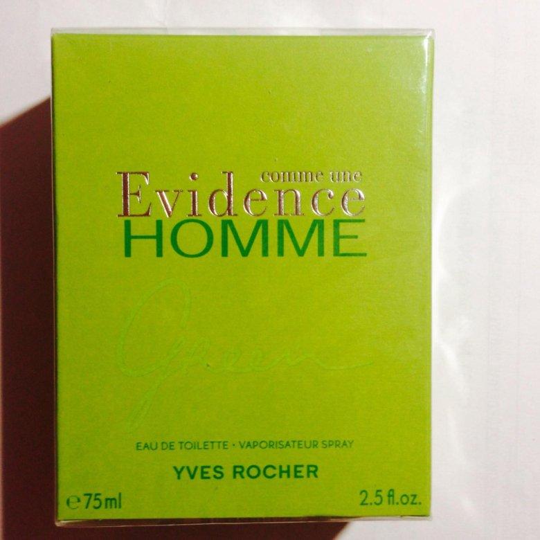 парфюм Yves Rocher Evidence Homme Green для мужч купить в