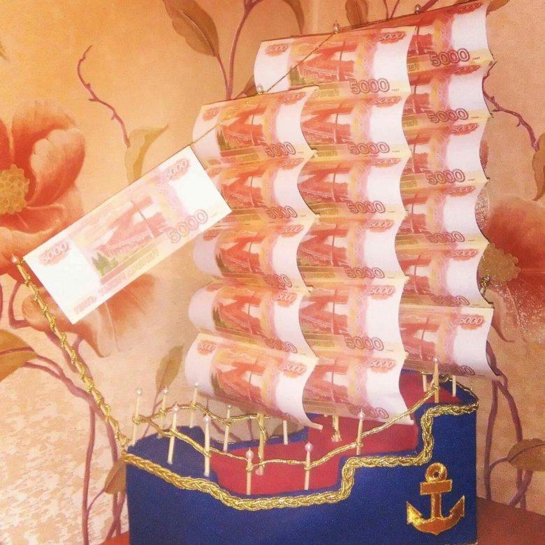 далеко идеален, поздравление к подарку корабль из денег дальше нужно