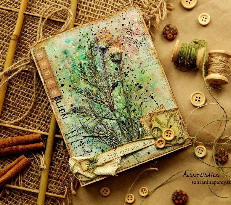 Новогодние открытки экостиль