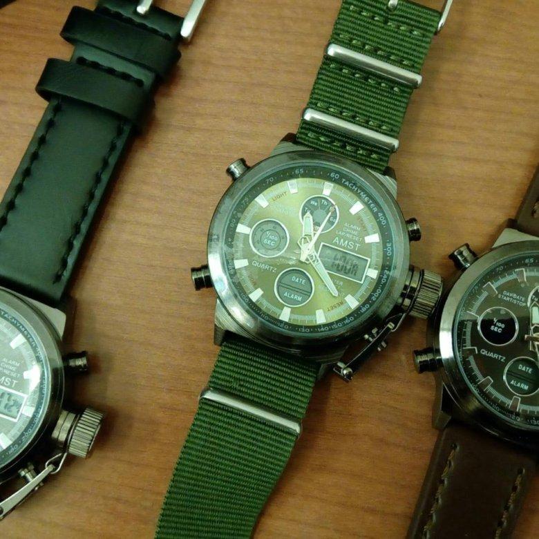 В - третьих это качество ремня: часы amst просто супер, идут секунда в секунду и при этом очень брутально смотрятся.