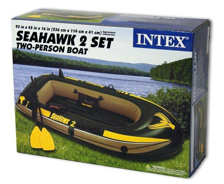 68347 надувная лодка intex seahawk 200
