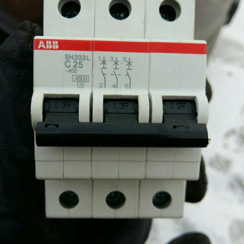 Автомат 32 ампера 3 фазы