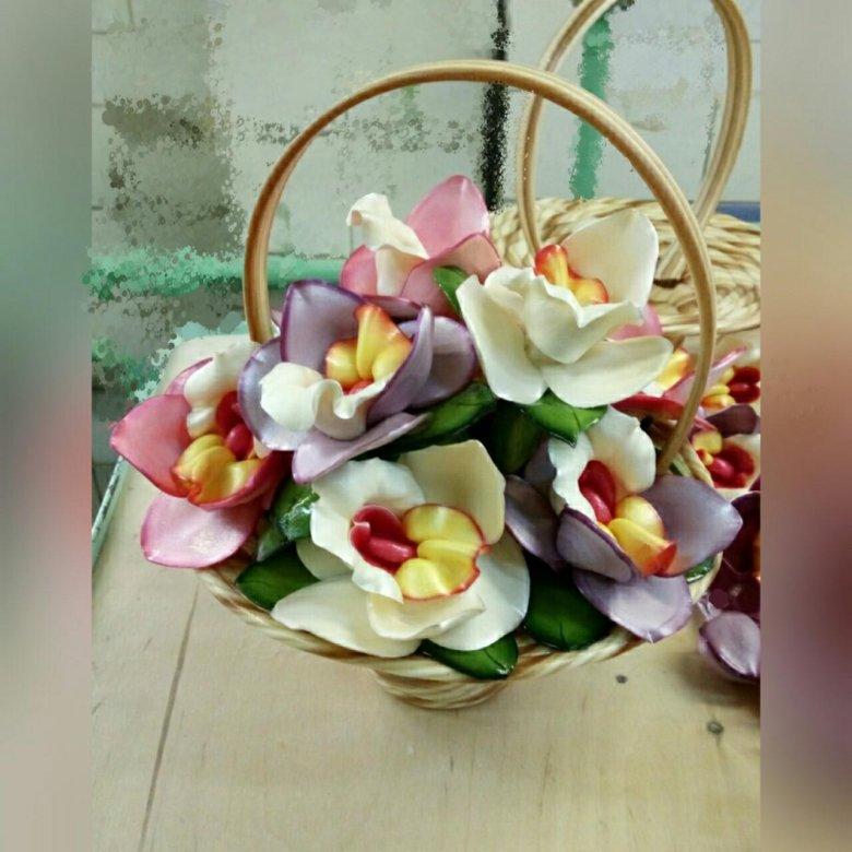 фото цветы из карамели первый