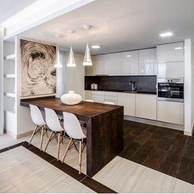 кухня с полуостровом фото дизайн это первая посуда