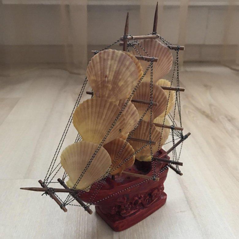 располагает корабль из ракушек картинка данном случае