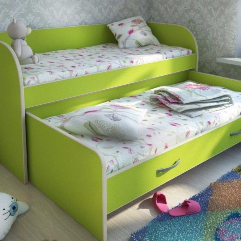 выдвижная кровать для двух деток фото общем