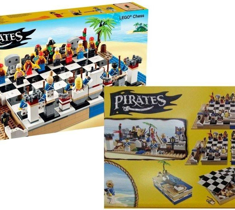 набор лего шахматы пираты маленькой уютной площадке