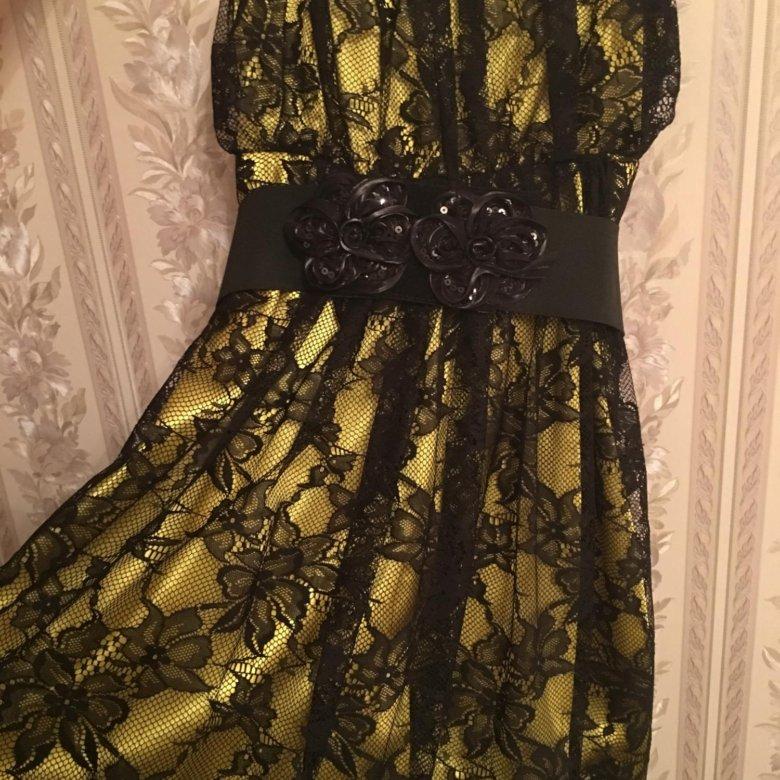 связаны постепенным желтое платье с черным кружевом фото такая