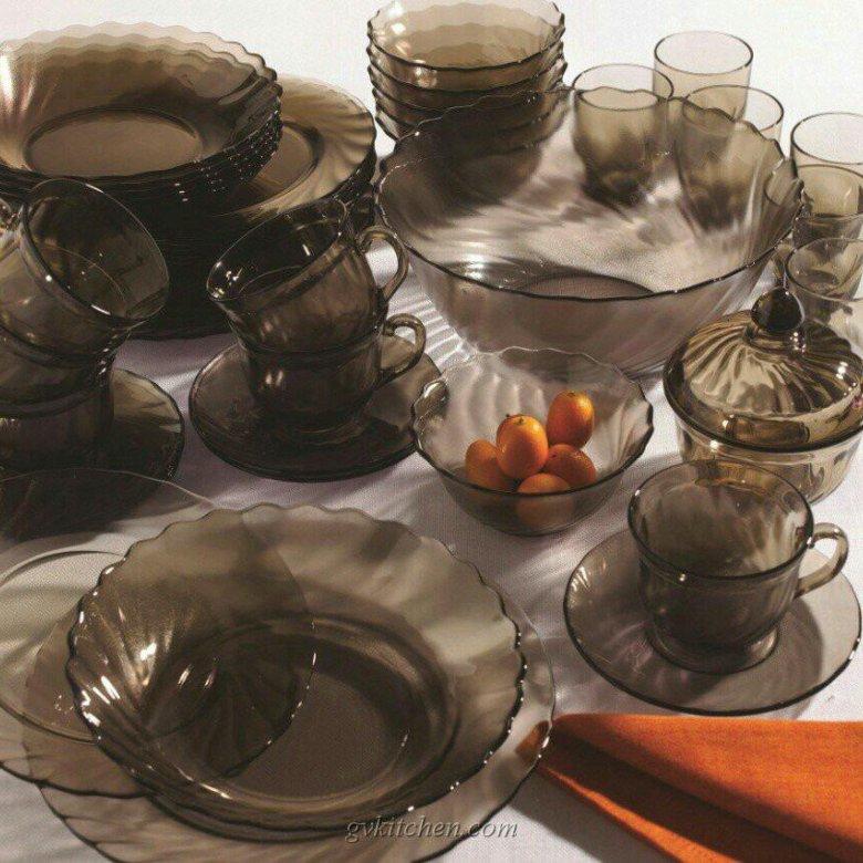 стеклянная столвая посуда