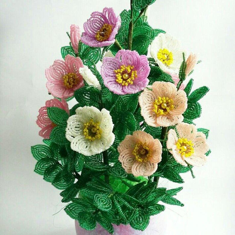 фото, цветы из бисера фото шиповник приготовить торт