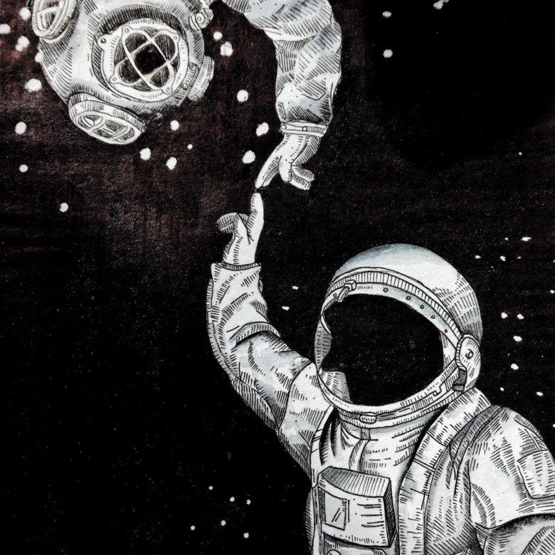 Масляной, картинки с космонавтом нарисованные