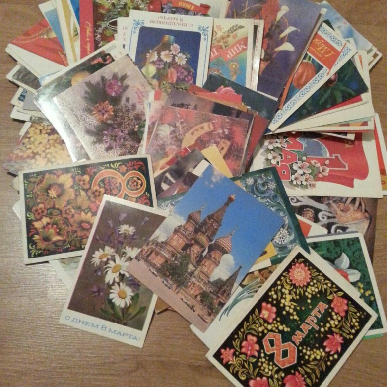 колекционирование открытки