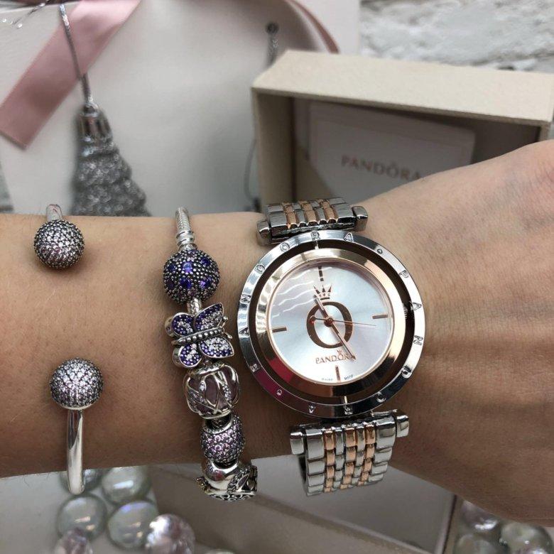 Женские часы pandora (пандора) b black с вращающемся циферблатом.