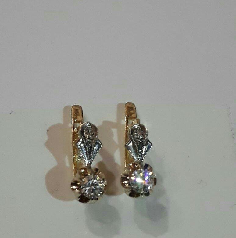 Серьги с бриллиантами в ссср фото